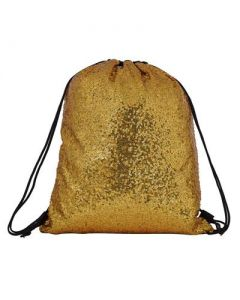 Gold Sequin Nap Sack