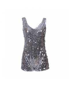Silver Sequin One Piece