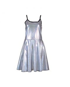 Silver Holographic Dress