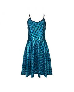 Turquoise Scale Dress