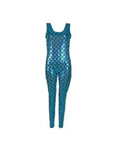 Turquoise Scale Cat Suit