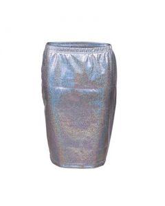 Silver Short Skirt