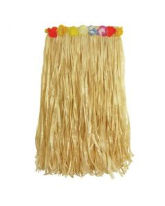 Grass Skirt Long Straw Colour