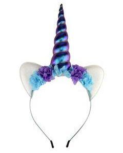 Unicorn Headband Purple and Turquoise