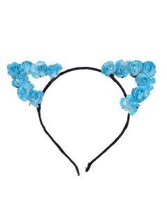 Turquoise Flower Cat Ears