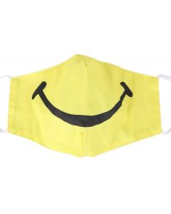 Smile Face Mask.  Wholesale Washable 3 Layer Face Masks, With Free Filters, adjustable Elastic and Plush Packaging. M16