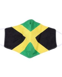 Jamaican Flag Print, 3 Layer, Adjustable Face Masks With Free Filters and Plush Packaging.