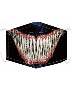 Venom Print , 3 Layer, Adjustable Face Masks With Free Filters and Plush Packaging