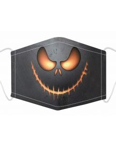 Pumpkin Print, 3 Layer, Adjustable Face Mask With Free Filters and Plush Packaging