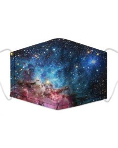 Galaxy Print 3 Layer, Adjustable Face Mask With Free Filters and Adjustable Packaging.