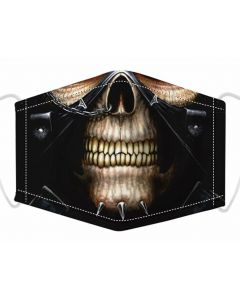 Skull Print, 3 Layer, Adjustable Face Mask, With Free Filters and Plush Packaging.